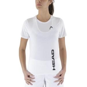 Camisetas y Polos de Tenis Mujer Head Promo Camiseta  White 828320WH