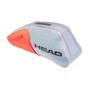 Tennis Bag Head Radical x 6 Combi Bag  Grey/Orange 283521 GROR