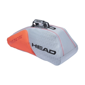 Tennis Bag Head Radical x 9 Supercombi Bag  Grey/Orange 283511 GROR