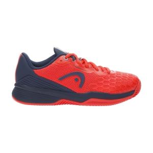 Junior Tennis Shoes Head Revolt Pro 3.5 Clay Boy  Neon Red/Dark Blue 275011 NRDB