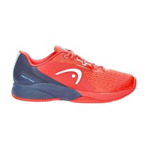 Men`s Tennis Shoes Head Revolt Pro 3.5 Clay  Neon Red/Dark Blue 273111 NRDB