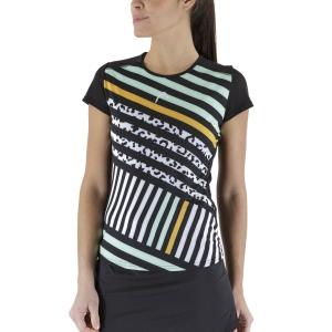 Camisetas y Polos de Tenis Mujer Head Sammy Camiseta  Black/Print Vision 814581BKXW