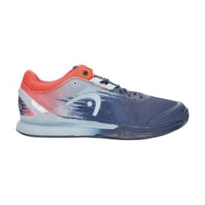 Men`s Tennis Shoes Head Sprint Pro 3.0 Clay  Dark Blue/Neon Red 273011 DBNR