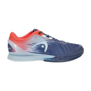 Men`s Tennis Shoes Head Sprint Pro 3.0  Dark Blue/Neon Red 273001 DBNR