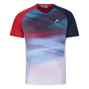 Polo e Maglie Tennis Head Striker Maglietta Bambino  Red/Print Vision 816201RDXV