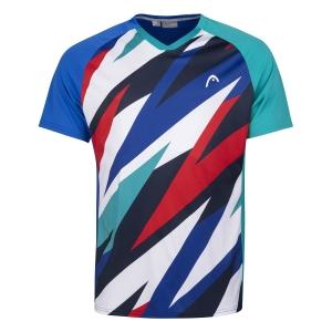 Polo e Maglie Tennis Head Striker Maglietta Bambino  Royal/Print Vision 816201ROXV