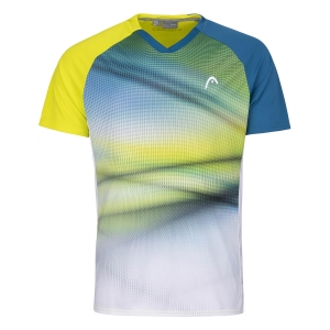 Polo e Maglie Tennis Head Striker Maglietta Bambino  Yellow/Print Vision 816201YWXV