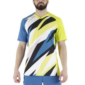 Men's Tennis Shirts Head Striker TShirt  Blue/Print Vision 811391BLXV