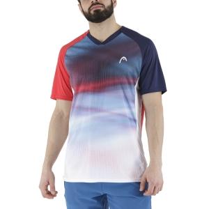 Men's Tennis Shirts Head Striker TShirt  Red/Print Vision 811391RDXV