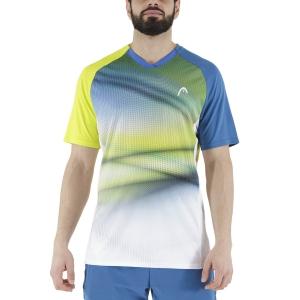 Men's Tennis Shirts Head Striker TShirt  Yellow/Print Vision 811391YWXV