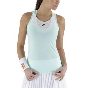 Women`s Tennis Tanks Head Tenley Tank  Mint/White 814671MIWH