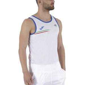 Camisetas de Tenis Hombre Joma FIT Top  White FIT102244207