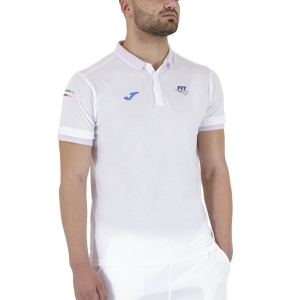Men's Tennis Polo Joma FIT Classic Polo  White FIT100748200