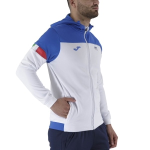 Men's Tennis Shirts and Hoodies Joma FIT Hoodie  White FIT101838207