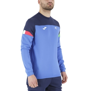 Men's Tennis Shirts and Hoodies Joma FIT Logo Italy Sweatshirt  Blue FIT101840703
