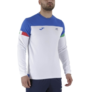 Camisetas y Sudaderas Hombre Joma FIT Logo Italy Sudadera  White FIT101840207