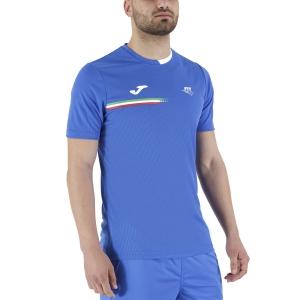 Camisetas de Tenis Hombre Joma FIT Logo Camiseta  Blue FIT101809702