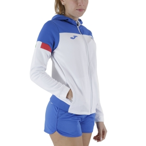 Women's Tennis Shirts and Hoodies Joma FIT Italy Hoodie  White FIT901274207