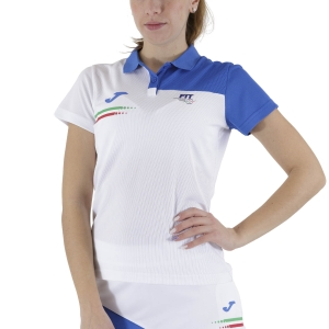 Women`s Tennis T-Shirts and Polos Joma FIT Italy Polo  White FIT901404207