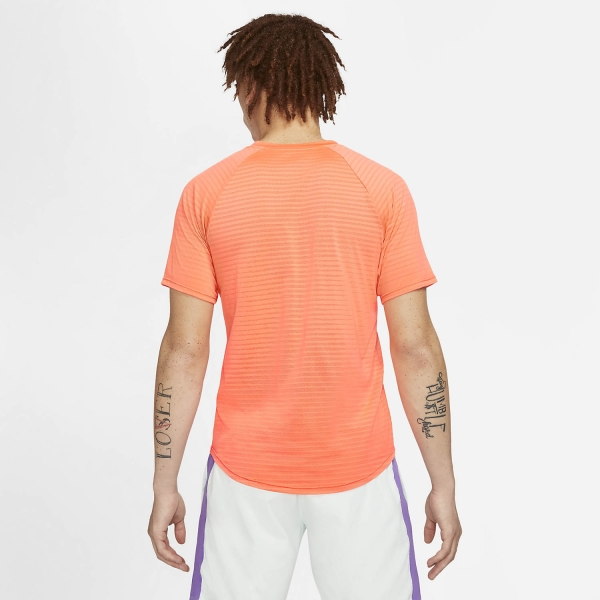 Nike Aeroreact Rafa Slam T-Shirt - Bright Mango/Barely Green