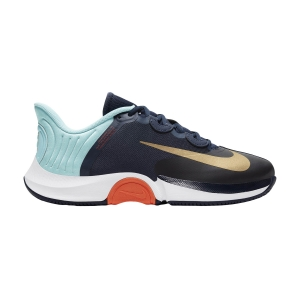 Men`s Tennis Shoes Nike Air Zoom GP Turbo HC  Obsidian/Metallic Gold/Copa/White CK7513400