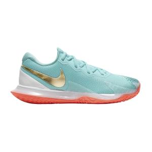 Calzado Tenis Mujer Nike Air Zoom Vapor Cage 4 HC  Copa/Metallic Gold/Bright Mango/White CD0431400