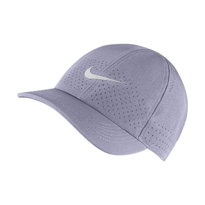 Tennis Hats and Visors Nike Court Aerobill Advantage Cap  Indigo Haze/White CQ9332519