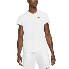 Nike Court Breathe Slam Logo Maglietta - White/Black