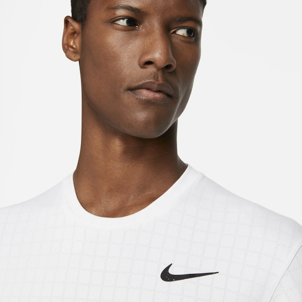 Nike Court Breathe Slam Logo T-Shirt - White/Black