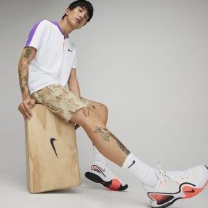Nike Court Breathe Classic Slam Polo - Wild Berry/Parachute Beige/Black