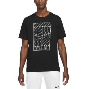 Camisetas de Tenis Hombre Nike Court Graphic Camiseta  Black/White DC5246010