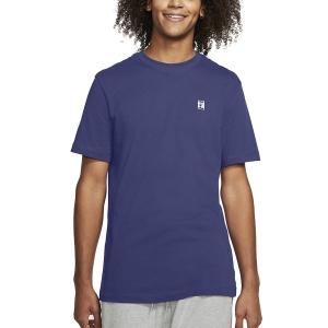 Camisetas de Tenis Hombre Nike Court Camiseta  Dark Purple/Dust/White BV5809510