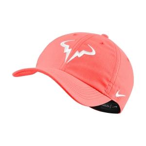 Tennis Hats and Visors Nike Court Rafa Aerobill H86 Cap  Bright Mango/White 850666854