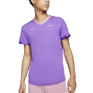 Maglietta Tennis Uomo Nike DriFIT ADV Rafa Maglietta  Wild Berry/Elemental Pink CV2802528