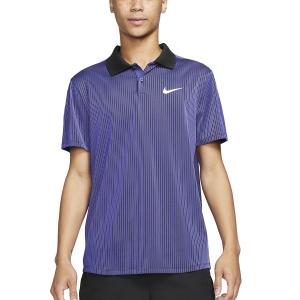 Polo Tennis Uomo Nike DriFIT ADV Slam Polo  Dark Purple Dust/Black/White CV2863510