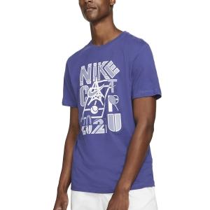 Men's Tennis Shirts Nike Court 2021 TShirt  Dark Purple Dust DD2250510