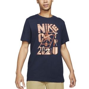 Men's Tennis Shirts Nike Court 2021 TShirt  Obsidian DD2250451