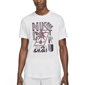 Men's Tennis Shirts Nike Court 2021 TShirt  White DD2250100