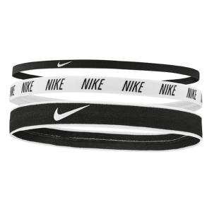 Tennis Headbands Nike Mixed Width x 3 Hairbands  Black/White N.000.2548.930.OS