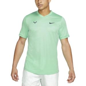 Maglietta Tennis Uomo Nike Rafa Challenger Maglietta  Green Glow/Thunder Blue CI9148342