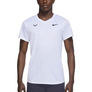 Men's Tennis Shirts Nike Rafa Challenger TShirt  White/Black CV2572100