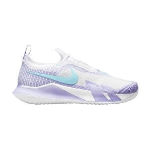 Scarpe Tennis Donna Nike React Vapor NXT HC  White/Copa/Purple Pulse/Volt CV0742124