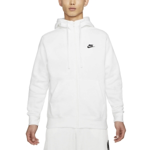 Men's Tennis Shirts and Hoodies Nike Sportswear Club Hoodie  White/Black BV2645100