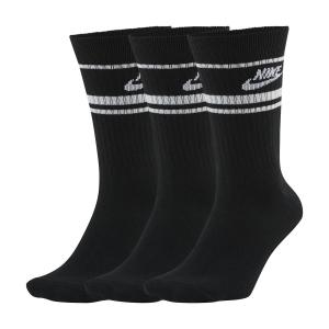 Tennis Socks Nike Sportswear Essential x 3 Socks  Black/White CQ0301010