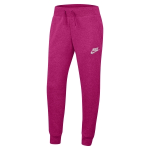 Pants da Tennis Girl Nike Sportswear Fleece Pantaloni Bambina  Fireberry/Heather/White BV2720615