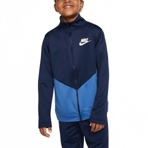 Boy Tracksuit and Hoodie Nike Sportswear Tracksuit Boys  Midnight Navy/Mountain Blue/White CV9335410