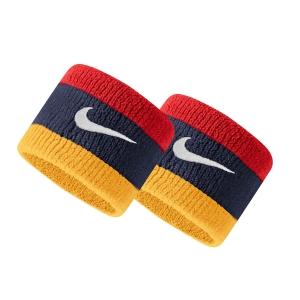 Muñequeras Tenis Nike Swoosh Munequeras  Midnight Navy/University Red/University Gold/White N.000.1565.428.OS