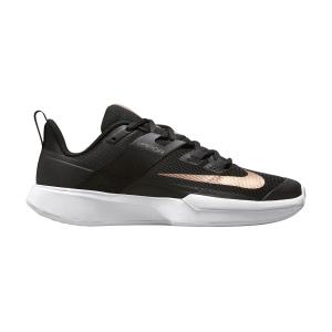 Scarpe Tennis Donna Nike Court Vapor Lite HC  Black/Metallic Red Bronze/White DC3431033