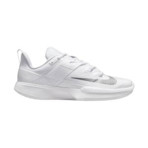 Scarpe Tennis Donna Nike Court Vapor Lite HC  White/Metallic Silver DC3431133