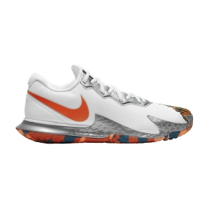 Men`s Tennis Shoes Nike Air Zoom Vapor Cage 4 HC  White/Team Orange/Green Abyss CD0424106